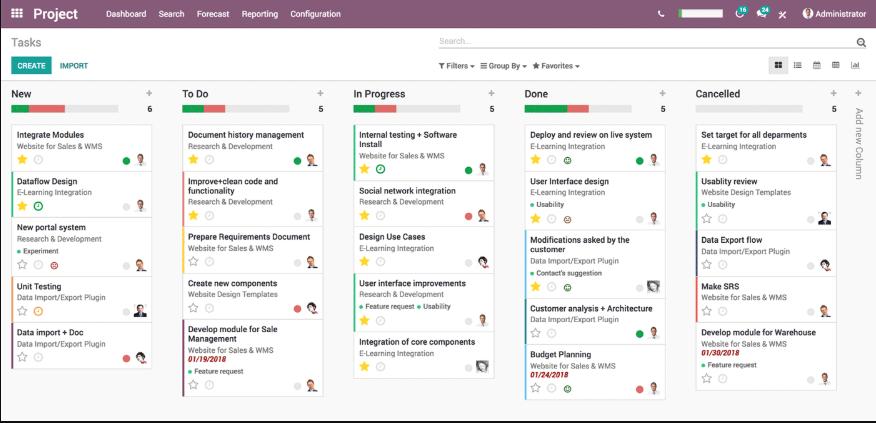 Phần mềm quản trị doanh nghiệp Odoo