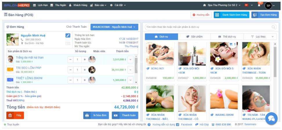 Phần mềm quản lý thẩm mỹ viện SalonHero