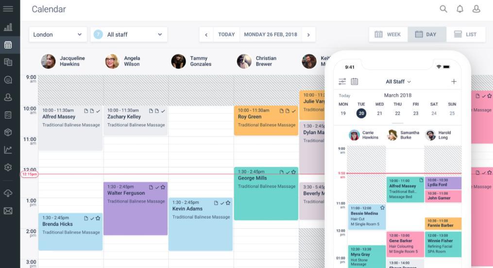 Ứng dụng quản lý spa Schedule