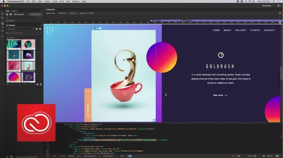 Phần mềm thiết kế web kéo thả Adobe Dreamweaver