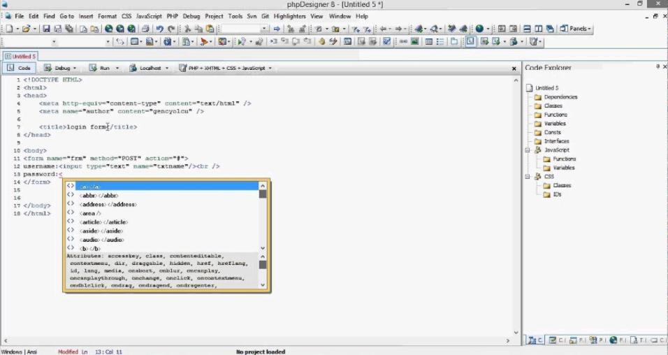 Phần mềm thiết kế web miễn phí tốt nhất PHPdesigner