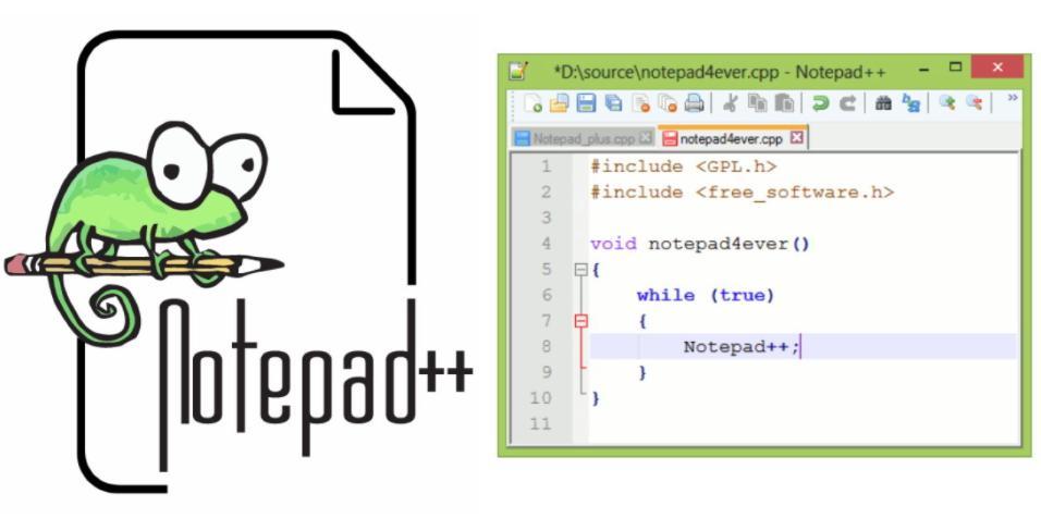 Phần mềm thiết kế web cho người không chuyên notepad